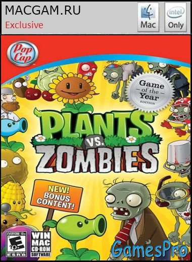 Plants vs Zombies Game Of Year Edition (2010/MacOS/FULL RUS/Wineskin)
